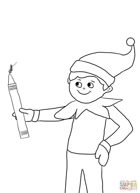 coloring page of elf on the shelf coloring pages elf on the shelf color pages elf on the