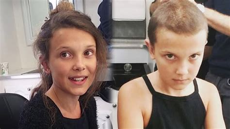 eleven actress age watch quot stranger things quot star millie bobby brown shave her