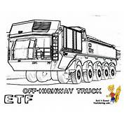 Printable Coloring Pages Trucks Dump Truck
