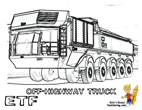 coloring pages trucks and trains macho construction coloring etf dump truck train tell