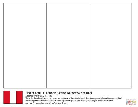bandera de peru coloring pages peru flag coloring page free printable coloring pages