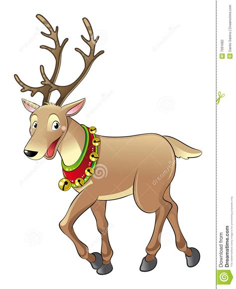 reindeer for christmas stock vector illustration of comic