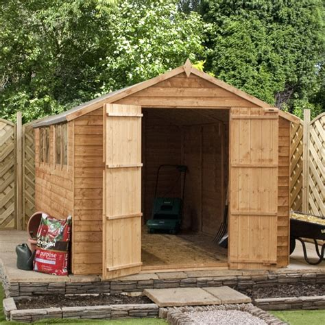 10 X 8 Wooden Shed by 10 X 8 Waltons Overlap Apex Wooden Shed