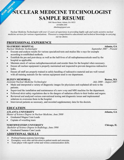 Medicine Resume Emergency Technician Resume Template Quotes