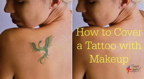 how to cover a tattoo with makeup how to cover a with makeup inside out style