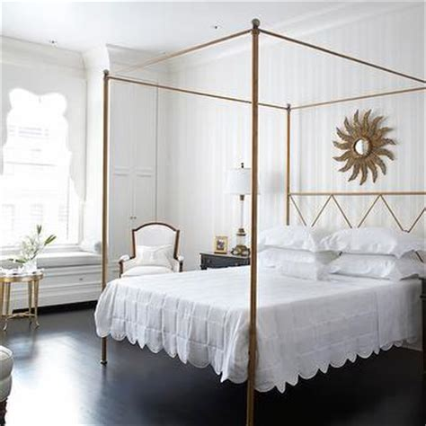 gold bed canopy gold canopy bed transitional bedroom traditional home