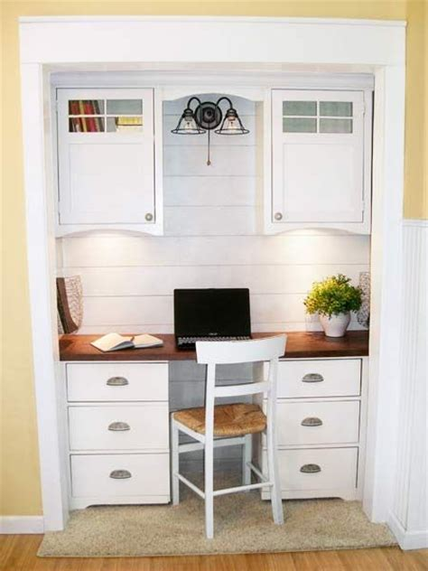 closet desks an office alcove for 209