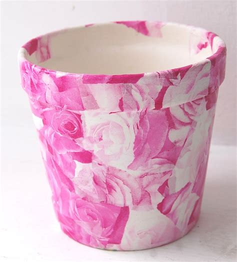 Decoupage Flower Pots - rev flower pots plant pots terracotta pots using