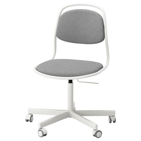 214 Rfj 196 Ll Sporren Swivel Chair White Vissle Light Grey Ikea White Swivel Chair Ikea