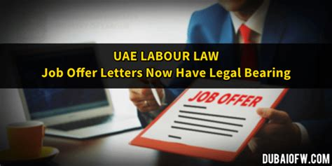 Are Signed Offer Letters Binding uae labour offer now legally binding dubai ofw