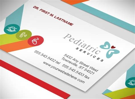 Pediatric Business Card Templates by Pediatrician Doctors Office Child Care Services Business