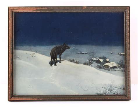 alfred wierusz kowalski lone wolf framed print