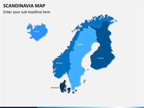 map of scandinavian countries scandinavia nordic countries map powerpoint sketchbubble