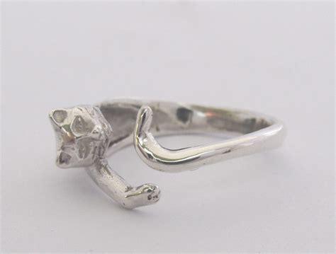 sterling silver cat wraparound ring goldfish jewellery