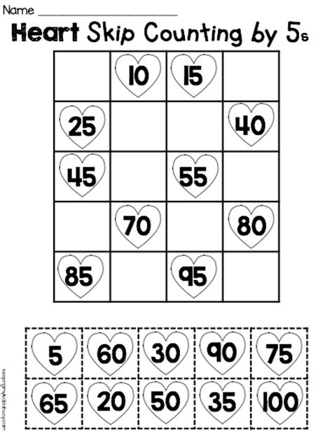 printable math worksheets counting by 5 free printable math worksheet counting by fives cut paste