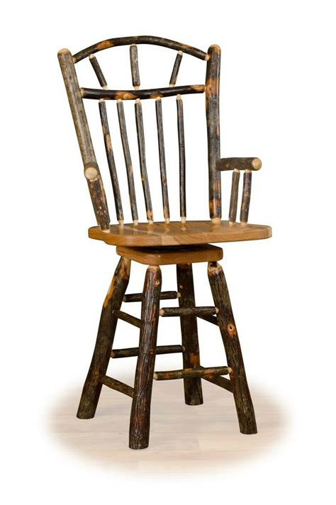 rustic bar stools swivel 1000 images about rustic hickory oak log furniture on