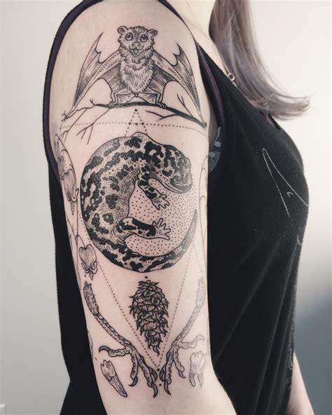 douglas fir tattoo stellaluna coastal salamander douglas fir