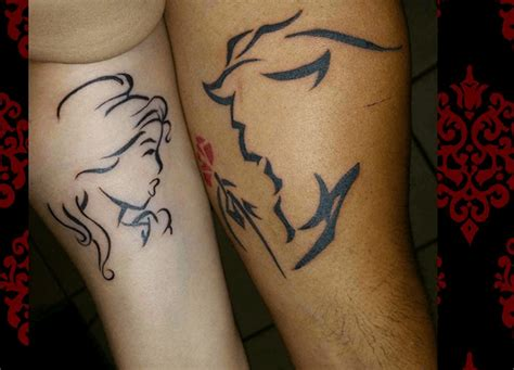images of tattoos for couples and the beast tattoos www pixshark