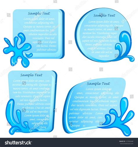 collection of simple wave vector illustration of vector illustration of collection of template with wave