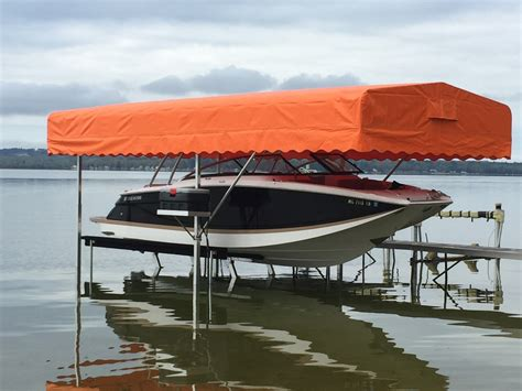 awnings for boats boat pontoon and tritoon lift canopies