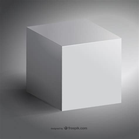 Cubes White 3d white cube vector free