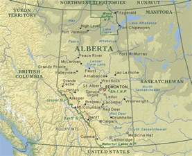 alberta canada map map of alberta canada search maps