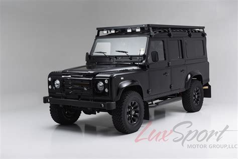 land rover defender black 1988 land rover defender 110 stock 2014101 for sale near