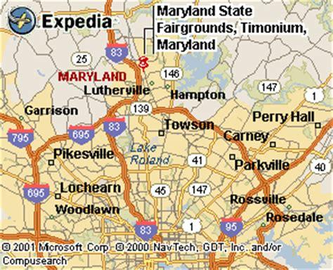 maryland fairgrounds map timonium track
