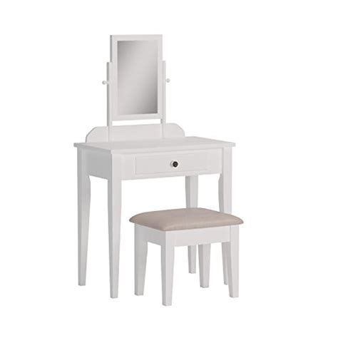 Iris Vanity Table And Stool by Crown Iris Vanity Table Stool White Finish With