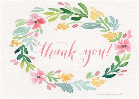 free printable thank you cards with flowers nataliemalan free download pretty watercolor thank you