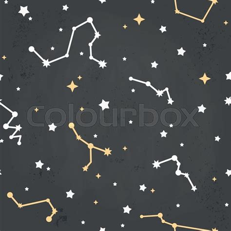 wallpaper cartoon constellations seamless repeating pattern with cartoon constellations of