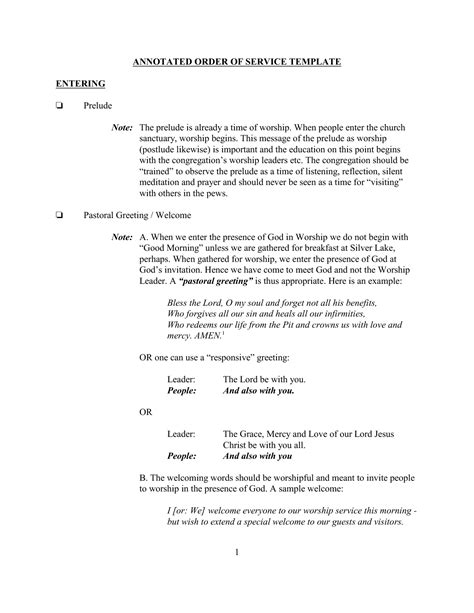 church order of service template best photos of sle church programs order of service