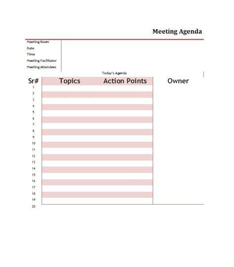 51 effective meeting agenda templates free template