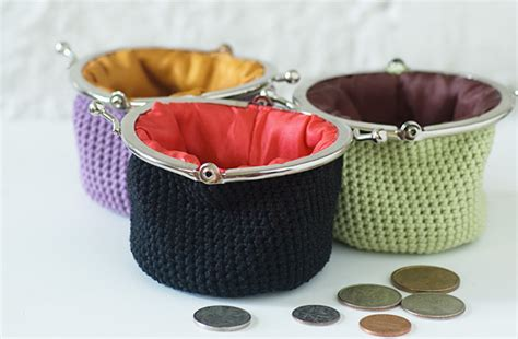 crochet pattern frame purse metal frame crochet coin purse patterns and tutorials for