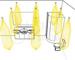 eclairage de la salle de bain d un hotel avec petits spots