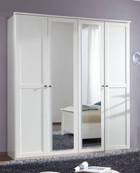 White Style Wardrobe - german chalet shaker style white 4 door mirror wardrobe