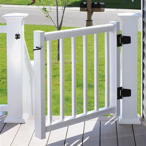 email layout rails azek rail trademark in white with gate kit transitional