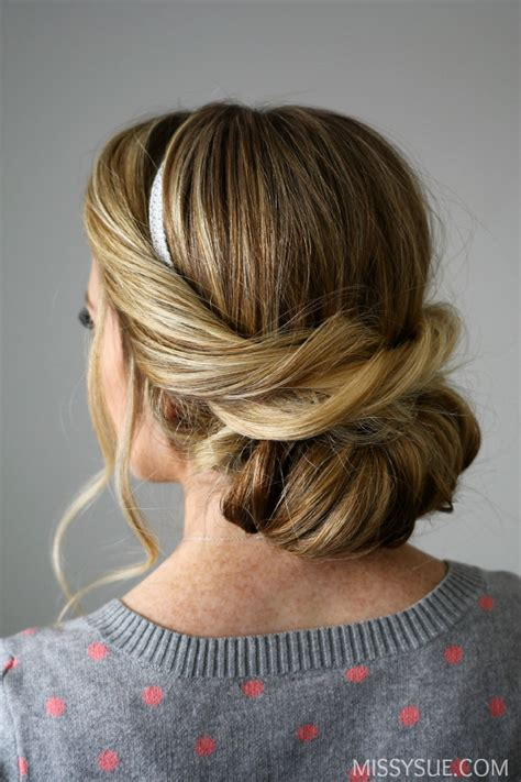hairstyles to do in 5 minutes wrapped headband updo easy hairstyles you can do in 5