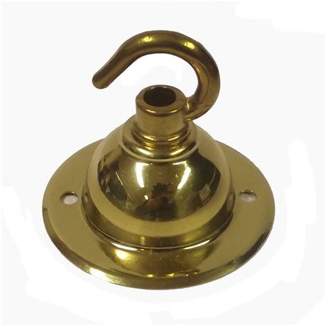 Brass Ceiling Hook by Single Hook Brass Ceiling Snobsknobs