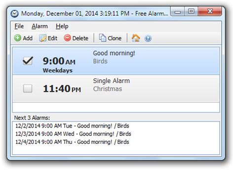 alarm clock    software reviews
