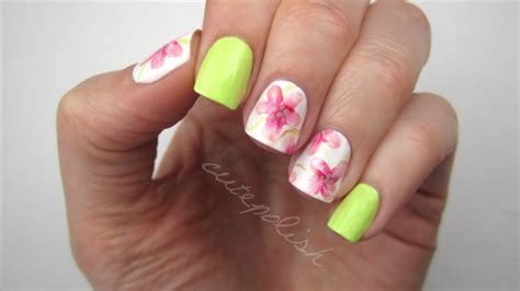 water color nails watercolor flower nails