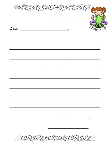 templates for a business letter template for kids printable online calendar templates