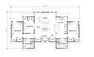 Three Bedroom Floor Plan by One Story Three Bedroom House Plans Viewing Gallery