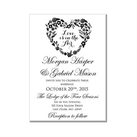 wedding invitations template word wedding invitation template is in the air