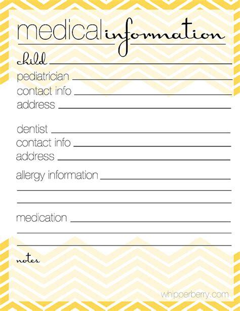 printable medical organizer 6 best images of free printable medication list organizer