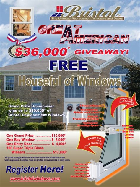 Great American Sweepstakes - vinyl replacement windows and patio doors from bristol windows and doors