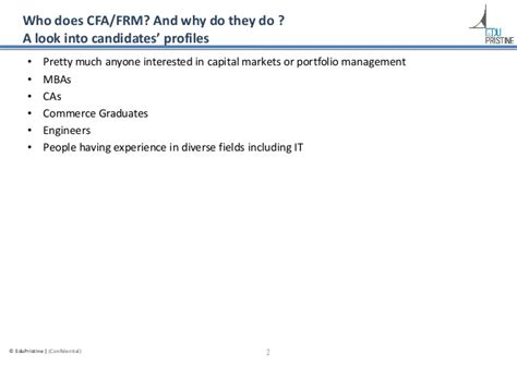Benefits Of Doing Cfa After Mba by Cfa Vs Frm