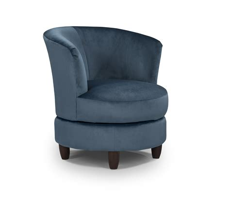 Blue Swivel Club Chair Chairs Seating Swivel Club Chairs For Living Room