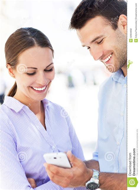 For Couples On Phone With Mobile Phone Stock Photography Image 32804692