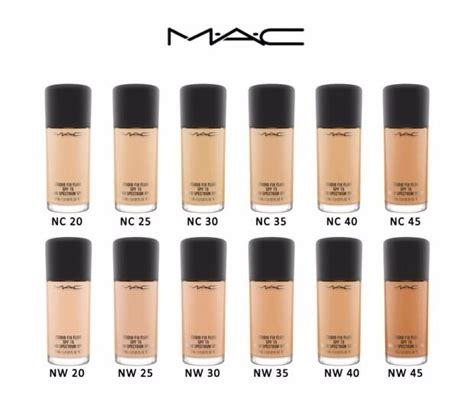 mac foundation colors mac studio fix foundation fluid spf15 all shades 30ml